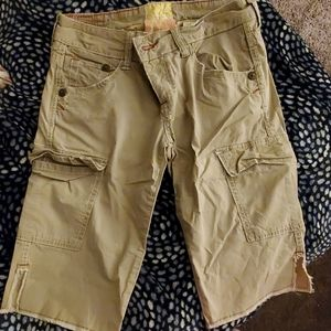 Women's Tan cargo shorts
